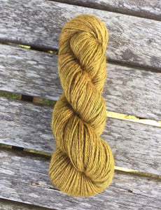 Non Superwash Bluefaced Leicester Gotland DK Light Worsted Yarn, 100g/3.5oz, Gold Rush