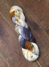 Load image into Gallery viewer, Superwash Bluefaced Leicester Nylon Ultimate Sock Yarn, 100g/3.5oz, Meetings Have Biscuits