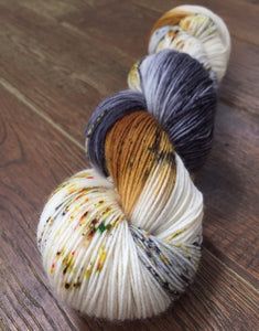 Superwash Bluefaced Leicester Nylon Ultimate Sock Yarn, 100g/3.5oz, Meetings Have Biscuits