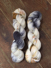 Load image into Gallery viewer, Superwash Merino Nylon Titanium Sock Yarn, 100g/3.5oz, Meetings Have Biscuits