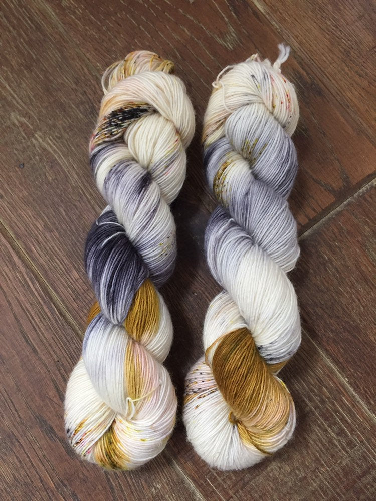 Superwash Merino Single Ply Fingering Yarn, 100g/3.5oz, Meetings Have Biscuits