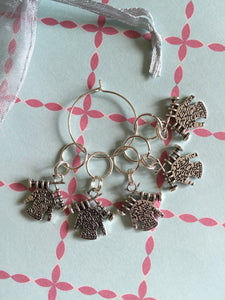 Set of 5 Woolly Jumper Stitch Markers