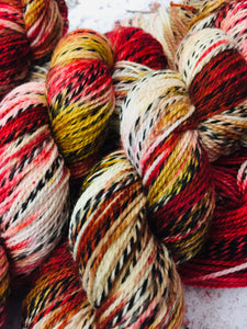Superwash Zebra 4 Ply Fingering Yarn, 100g/3.5oz, Piano Wire