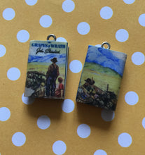 Load image into Gallery viewer, Miniature Book Charm Stitch Marker, Grapes of Wrath, John Steinbeck inspired