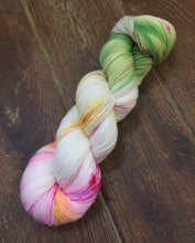 Load image into Gallery viewer, Superwash Merino Nylon Titanium Sock Yarn, 100g/3.5oz, Look at the Flowers