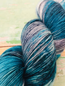 Superwash Bluefaced Leicester Nylon Ultimate Sock Yarn, 100g/3.5oz, Ship of Fools
