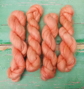 Superwash Kid Mohair Silk Lace Yarn, 50g, 420m, Peachy