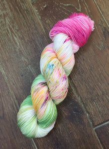 Superwash Bluefaced Leicester Nylon Ultimate Sock Yarn, 100g/3.5oz, Look at the Flowers