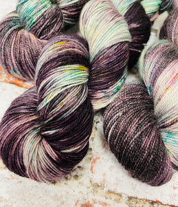 Superwash Merino Nylon Titanium Sock Yarn, 100g/3.5oz, One of a Kind