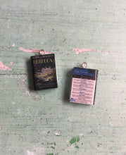 Load image into Gallery viewer, Miniature Book Charm Stitch Marker, Rebecca, Daphne du Maurier inspired