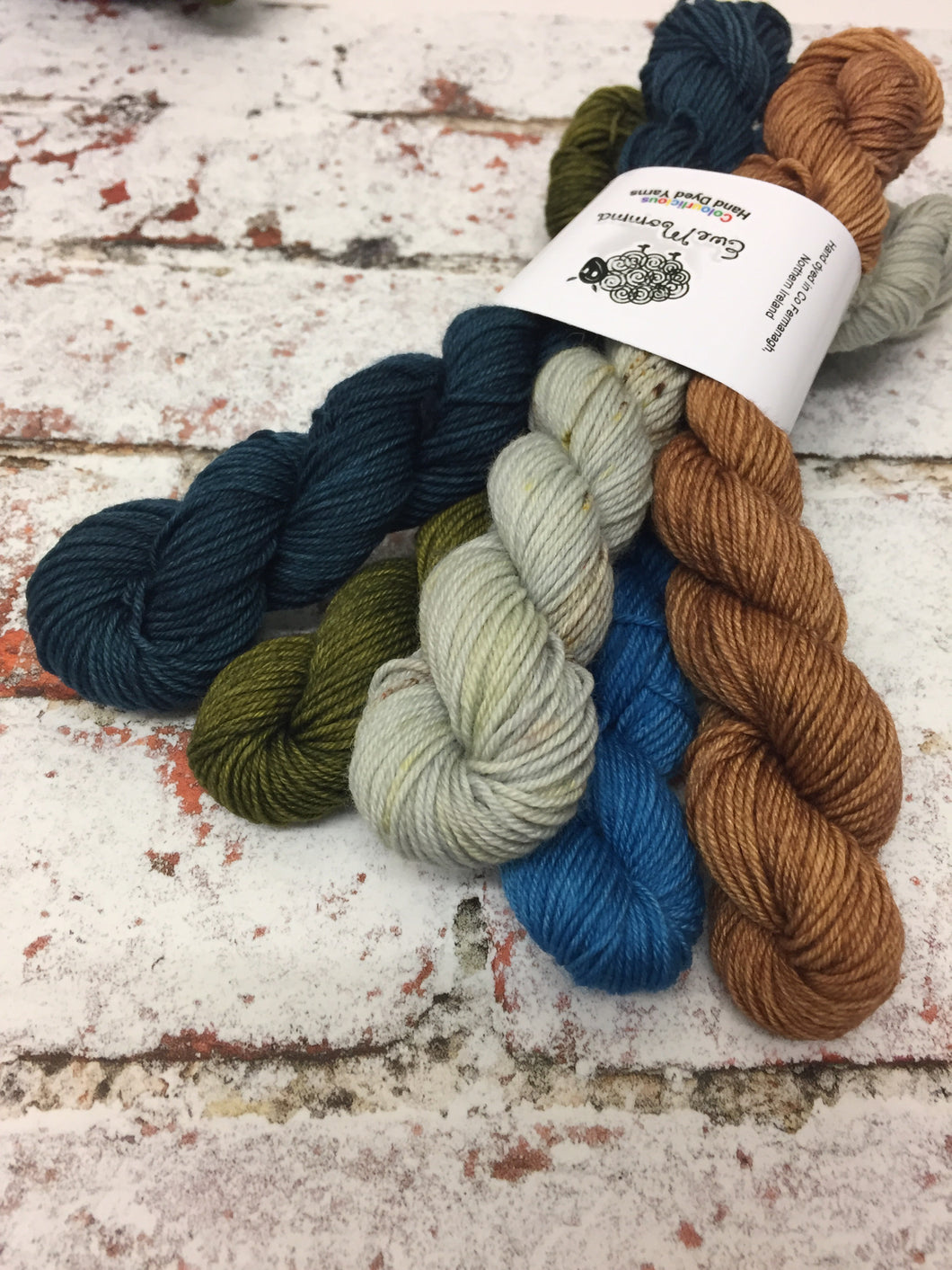 View from Cuilcagh Minis Sock Set, Superwash Bluefaced Leicester, 100g