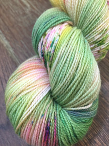 Superwash Merino Nylon Titanium Sock Yarn, 100g/3.5oz, Look at the Flowers