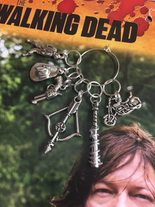 Set of 6 The Walking Dead Inspired Stitch Markers