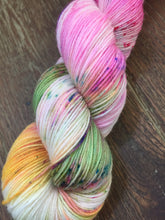 Load image into Gallery viewer, Superwash Bluefaced Leicester Nylon Ultimate Sock Yarn, 100g/3.5oz, Look at the Flowers