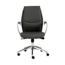Load image into Gallery viewer, Crosby Low Back Office Chair in Gray with Polished Aluminum Base