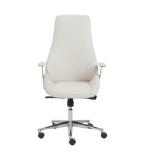 Load image into Gallery viewer, eurostyle Bergen High Back Office Chair in White with Chromed Steel Base 00474WHT 727511922842