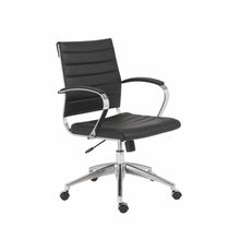 Load image into Gallery viewer, Axel Low Back Office Chair in Black with Aluminum Base
