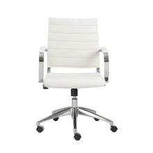 Load image into Gallery viewer, Axel Low Back Office Chair in White with Aluminum Base
