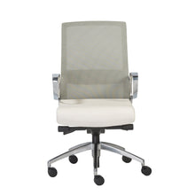 Load image into Gallery viewer, eurostyle Alpha Office Chair with Gray Mesh and Polished Aluminum Base 00522WHT 727511955680