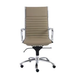 eurostyle Dirk High Back Office Chair in Black with Chromed Steel Base 00675TPE 727511942390
