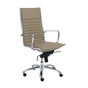 eurostyle Dirk High Back Office Chair in Black with Chromed Steel Base