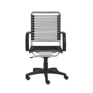 Bungie High Back Office Chair in Black with Aluminum Frame and Black Base
