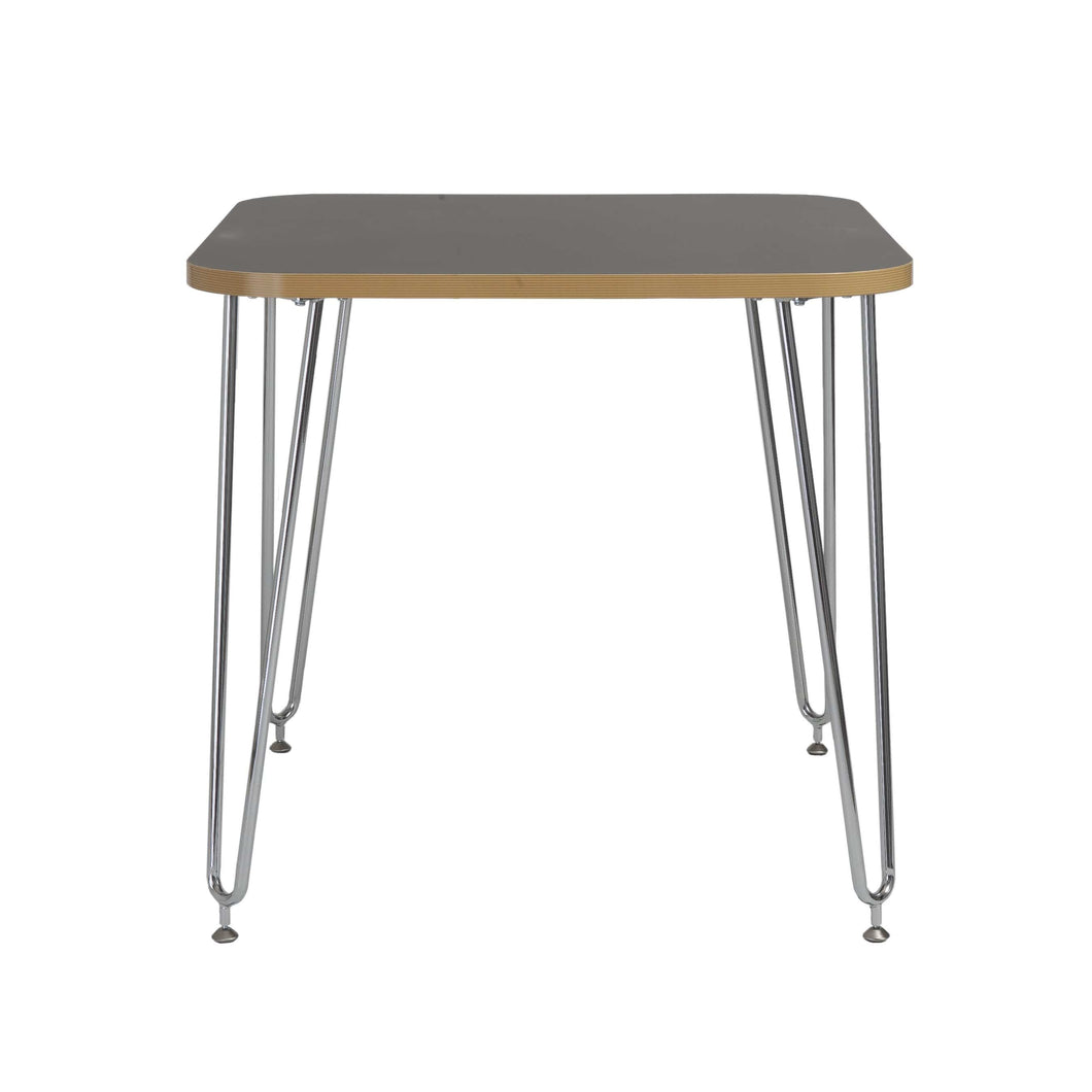 Hanh Activity Table in Gray with Chrome Legs