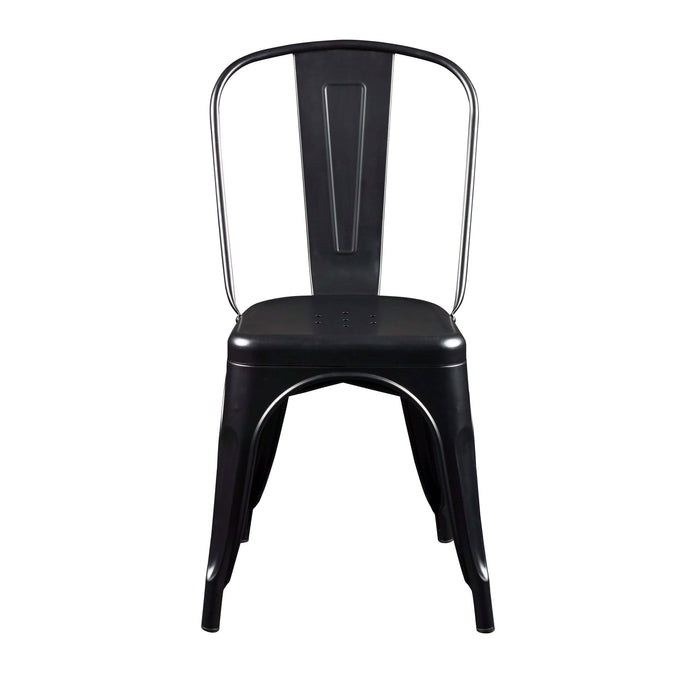 eurostyle Corsair Stacking Side Chair in Matte Black - Set of 4 94210MTWHT 727511972533