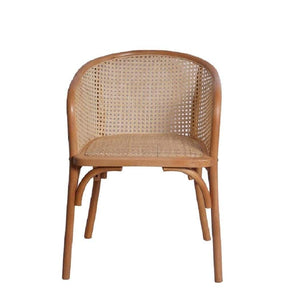 eurostyle Elsy Arm Chair in Black with Natural Rattan Seat - Set of 2 08190NAT 727511976340