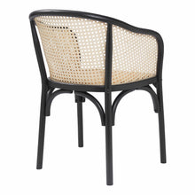 Load image into Gallery viewer, eurostyle Elsy Arm Chair in Black with Natural Rattan Seat - Set of 2