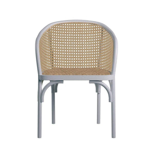 eurostyle Elsy Arm Chair in Black with Natural Rattan Seat - Set of 2 08192WHT 727511977521