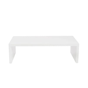 Abby Rectangle Coffee Table in High Gloss White