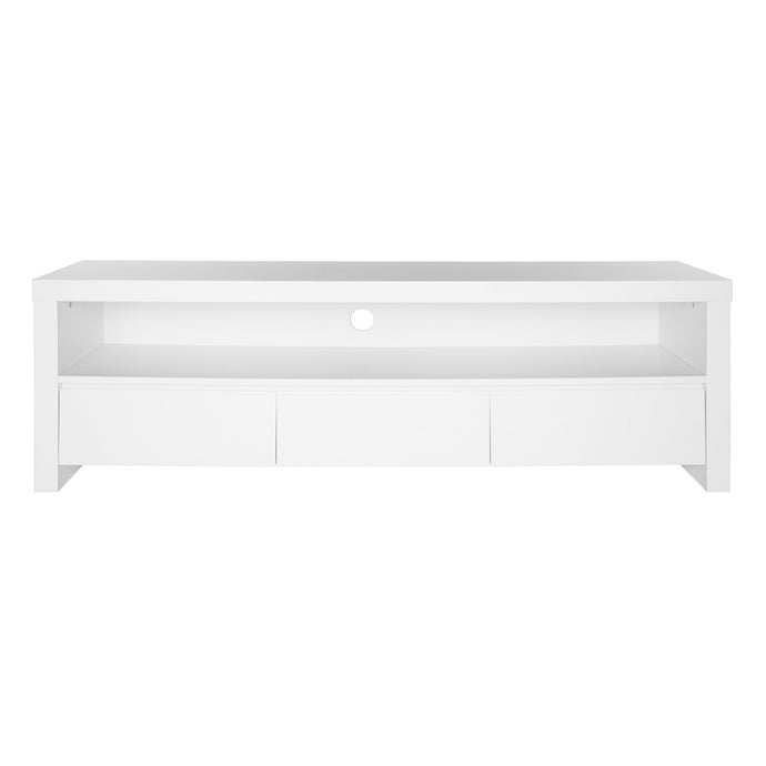 eurostyle Bryant Media Stand in Matte White 09839WALKIT '727511962473
