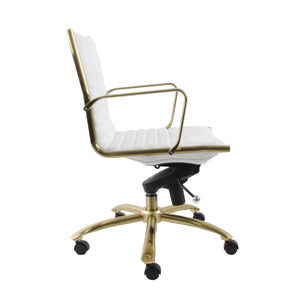 Dirk Low Back Gold Frame Office Chair