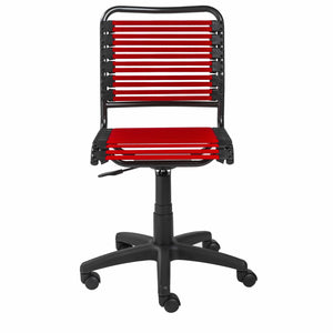 Allison Bungie Low Back Office Chair in Red with Graphite Black Frame and Black Base