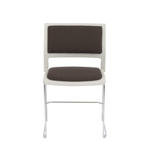 Load image into Gallery viewer, Raylan Stacking Side Chair in Charcoal and Tan with Chrome Legs - Set of 4