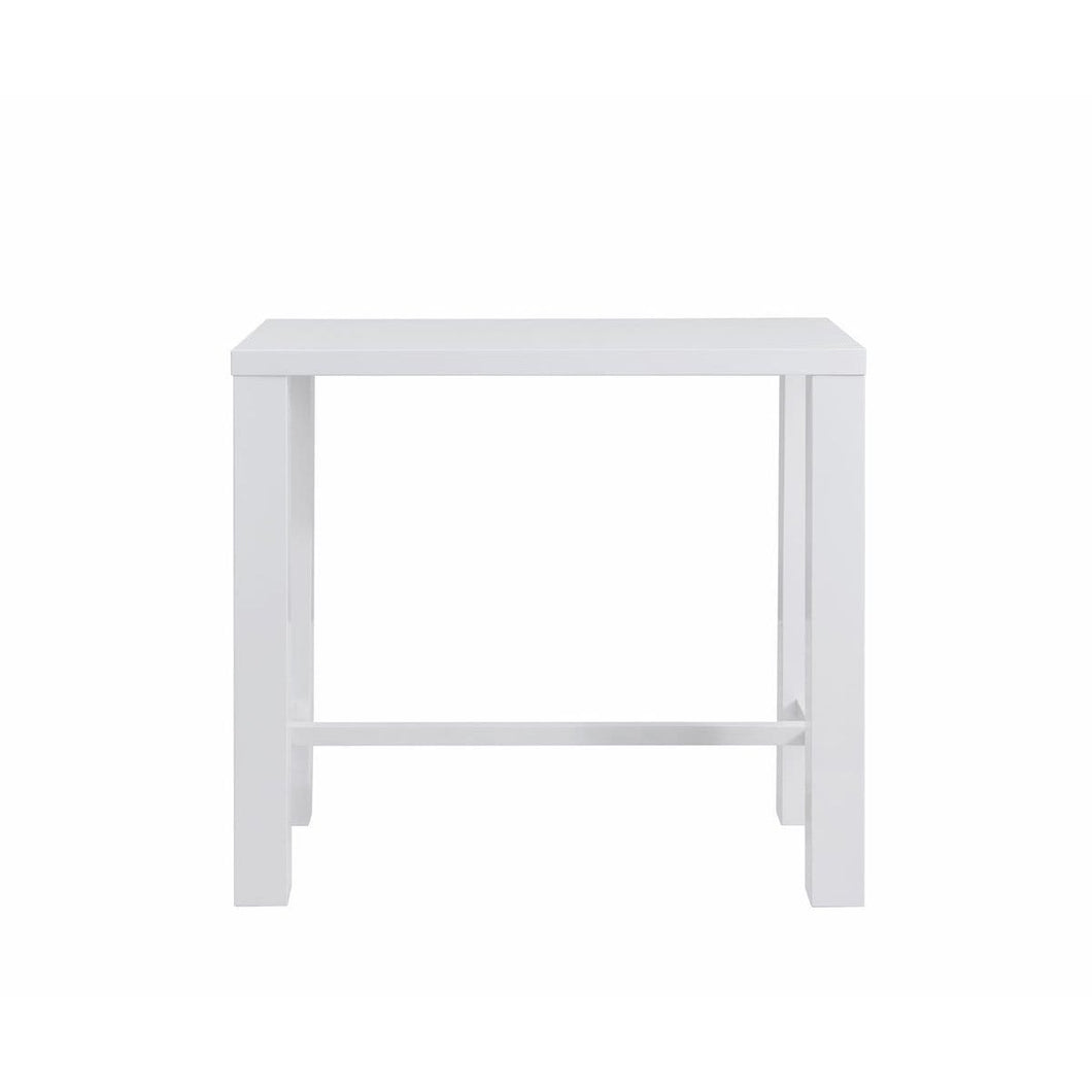 Abby Bar Table Top in High Gloss White