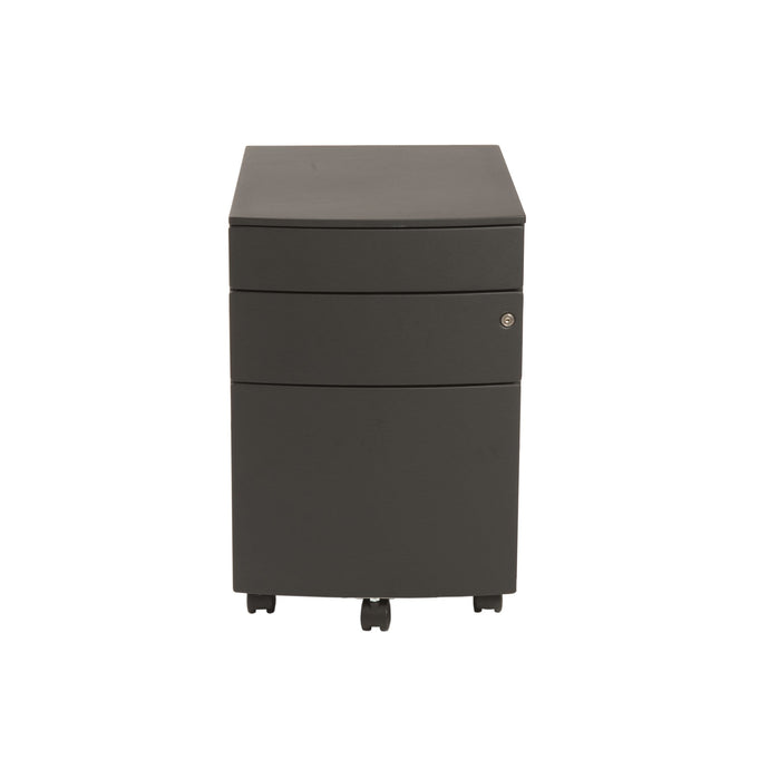 eurostyle Floyd 3 Drawer File Cabinet in Black 27985BLK 727511922606