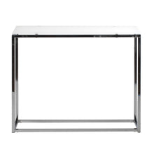 Load image into Gallery viewer, Sandor Console Table with Pure White Tempered Glass Top and Chrome Frame