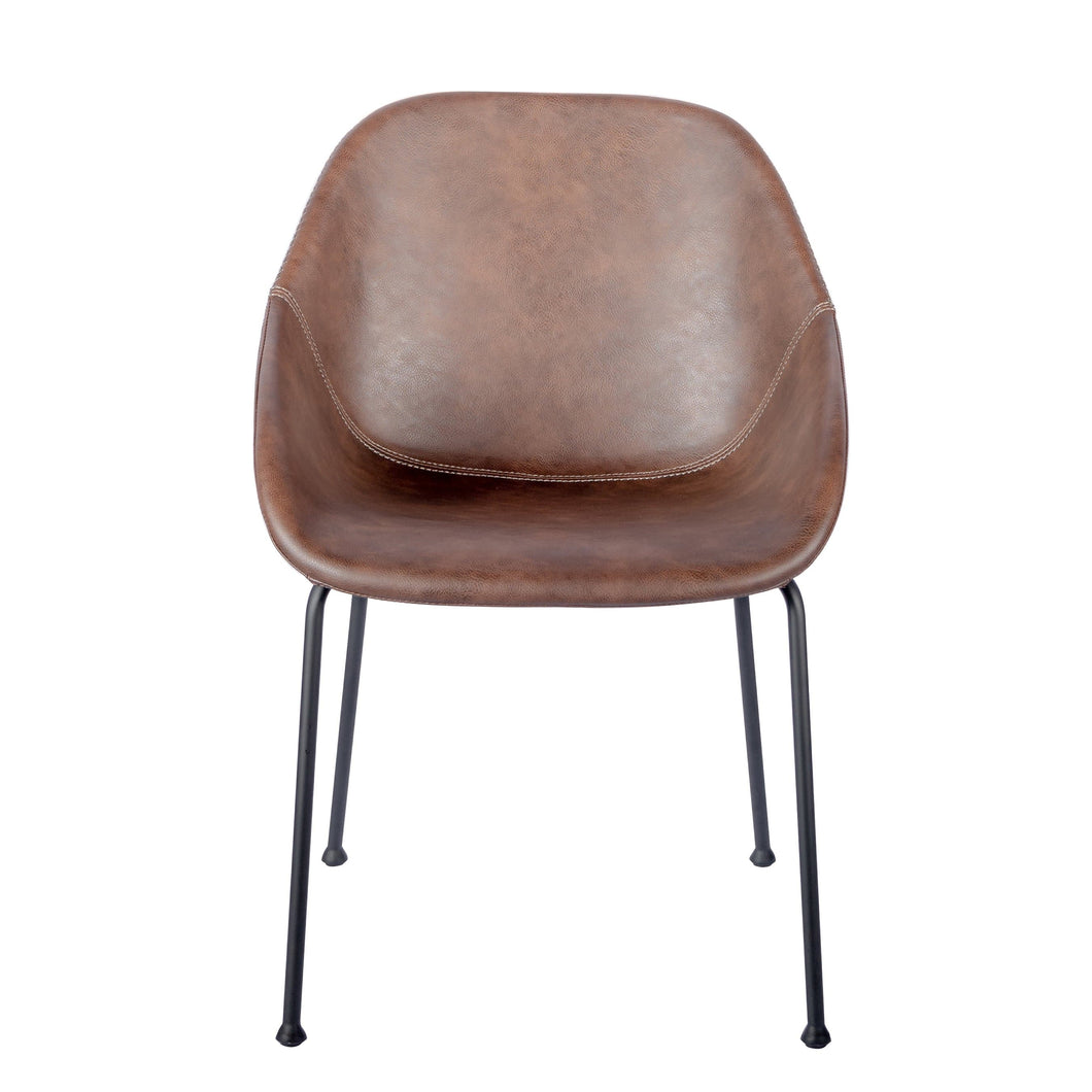 eurostyle Corinna Side Chair in Vintage Brown - Set of 2 30502BRN 727511968000