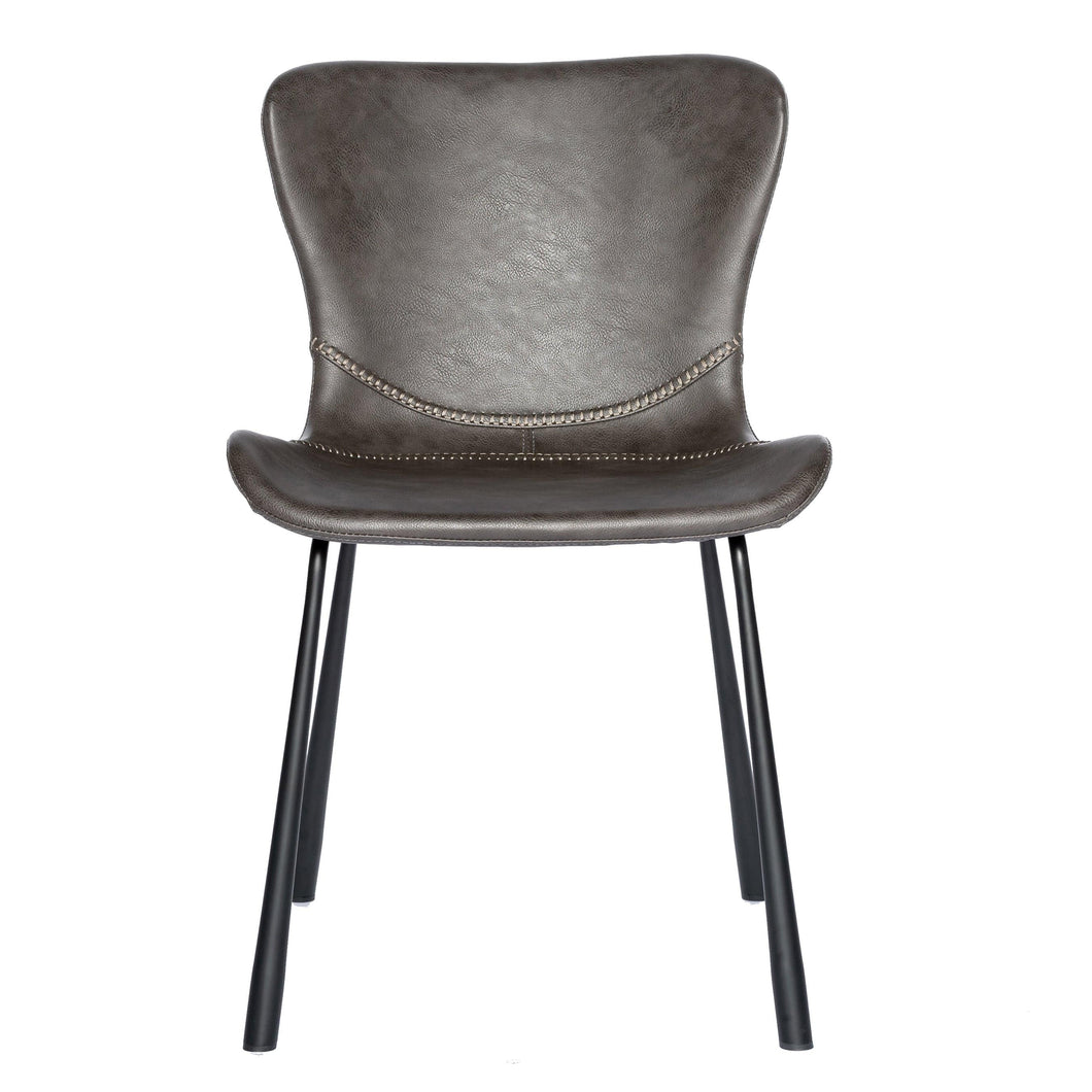 Melody Side Chair in Dark Gray - Set of 2