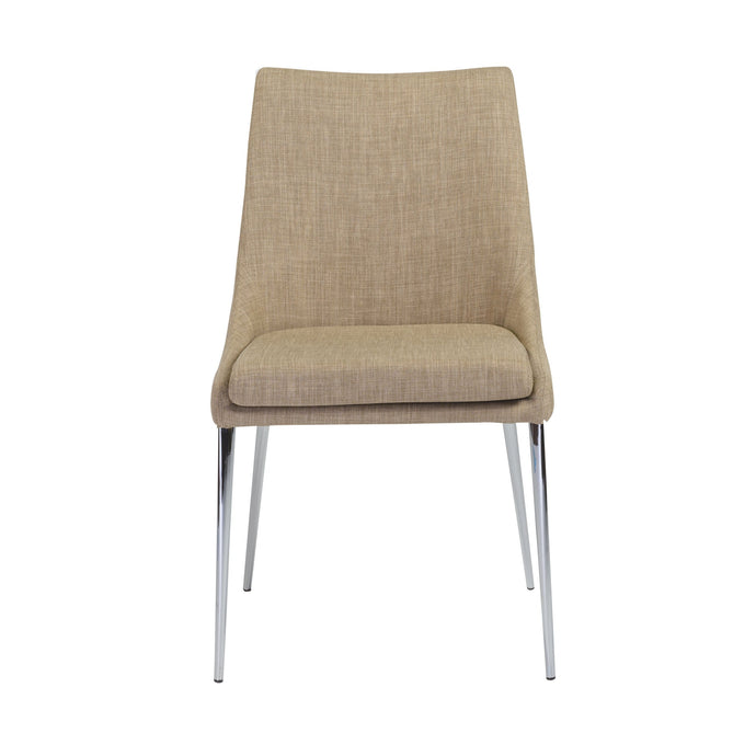 eurostyle Tarnana Side Chair in Tan with Chrome Legs - Set of 2 38645CHAR 7.28E+11