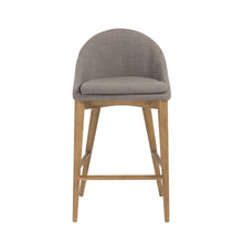 Load image into Gallery viewer, eurostyle Baruch Counter Stool in Dark Gray with Walnut Legs - Set of 1