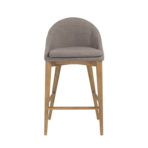 eurostyle Baruch Counter Stool in Dark Gray with Walnut Legs - Set of 1