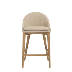 eurostyle Baruch Counter Stool in Dark Gray with Walnut Legs - Set of 1 38677TAN 727511936733