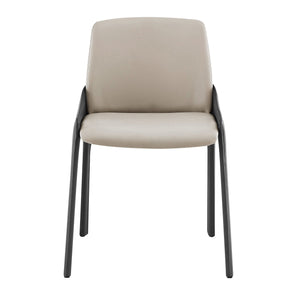 eurostyle Viliante Side Chair in Light Gray and Gray 38970TPE 727511971161