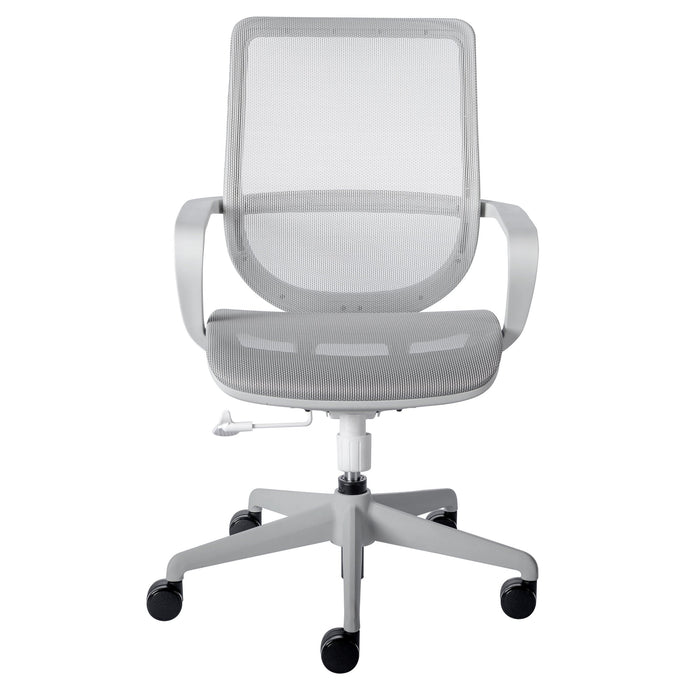 eurostyle Megan Office Chair in Gray Mesh and Gray Frame 39004BLK-FA 727511964187