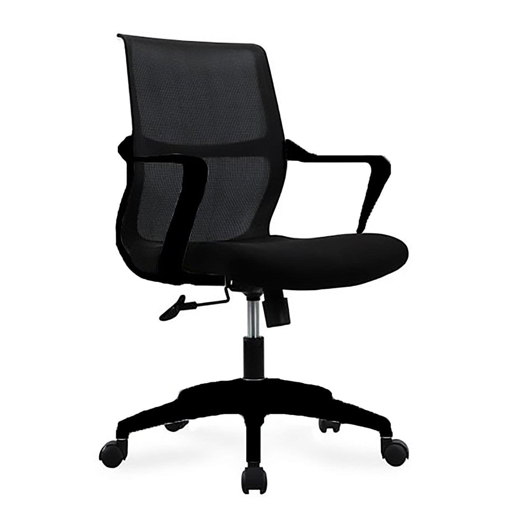 eurostyle Airi Office Chair in Black Mesh and Fabric with Black Frame 39016BLK 727511978252