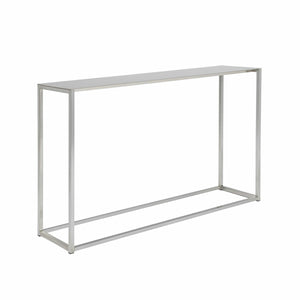 "eurostyle Montclair 48"" Console Table in Brushed Aluminum"