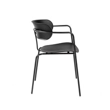 Load image into Gallery viewer, eurostyle Paris Stacking Arm Chair in Black with Black Legs - Set of 4 90158BLK 727511969649